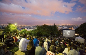 Cinéma en plein air, butte Montmartre, Paris © OTCP - Marc Bertrand